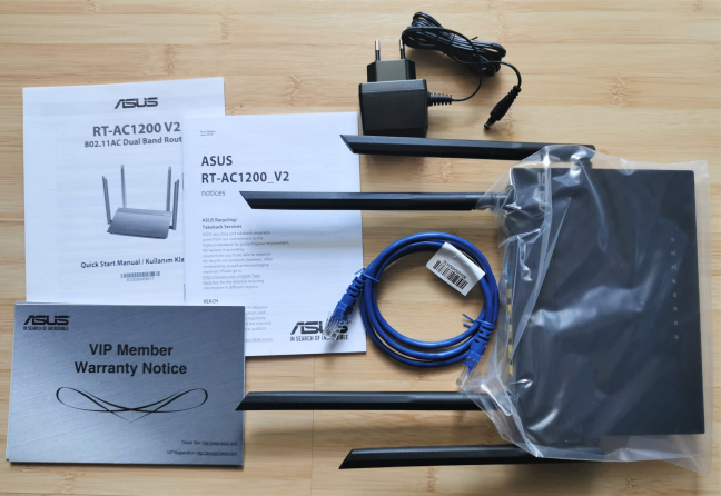 ASUS RT-AC1200 V2 - What is inside the box