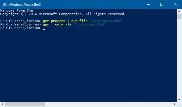Windows, processes, running, list, commands