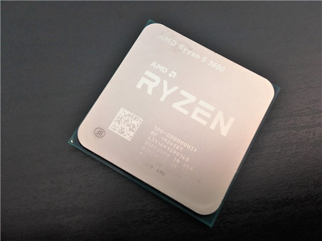 The AMD Ryzen 5 3600 processor