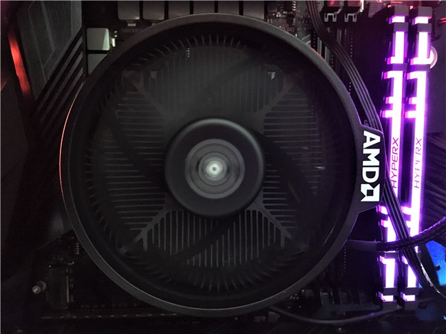 The Wraith Spire cooler bundled with the AMD Ryzen 5 3600X