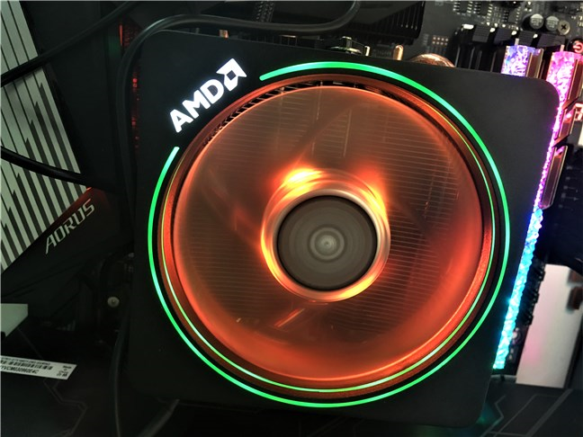 The Wraith Prism with RGB LED cooler bundled with the AMD Ryzen 7 3700X