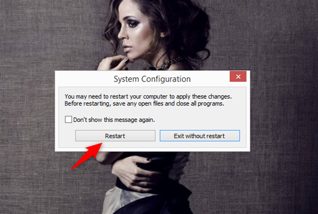 System Configuration prompt