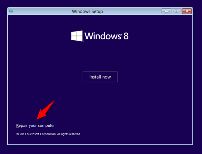 Repairing a Windows 8 computer