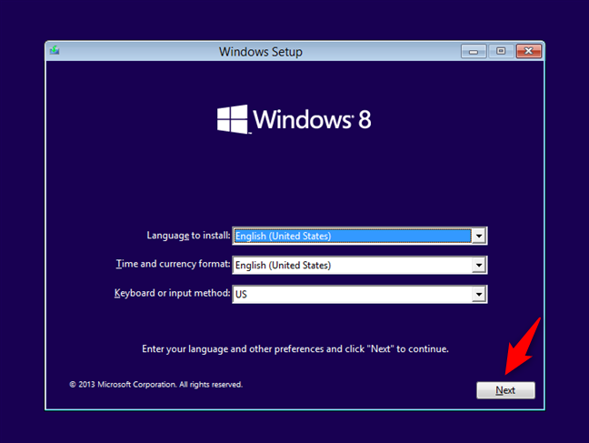 The Windows 8 Setup