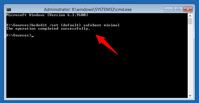 Enabling Safe Mode using the Command Prompt