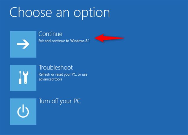 Continuing to Windows 8.1