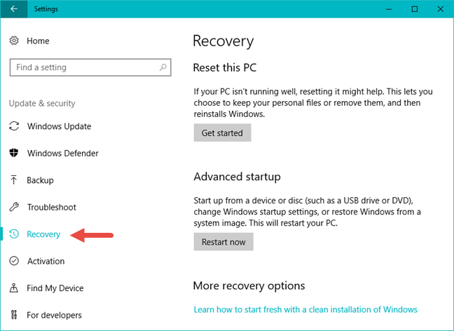 Safe Mode with Networking, Windows 10
