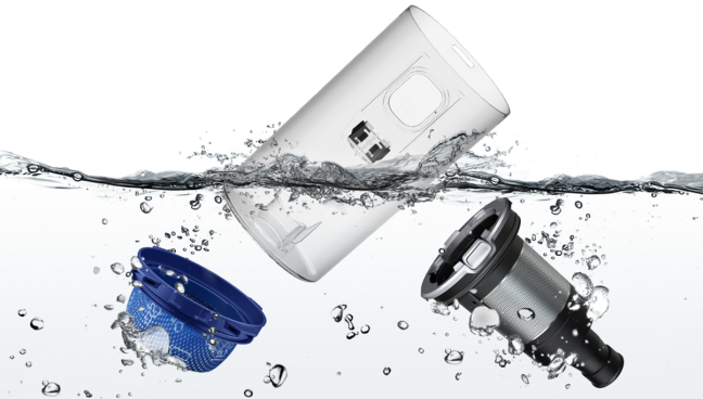 Samsung JET - Washable dust tank and multi-cyclone system