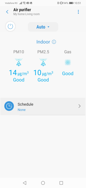 The SmartThings app shows live data from Samsung AX60R5080WD