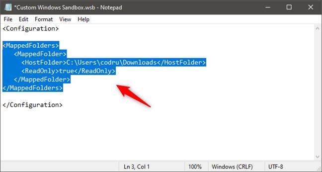 Compartir una carpeta con Windows Sandbox