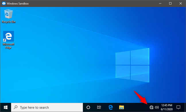 Windows Sandbox launched without networking