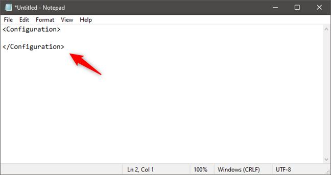 Crear un archivo de configuración de Windows Sandbox