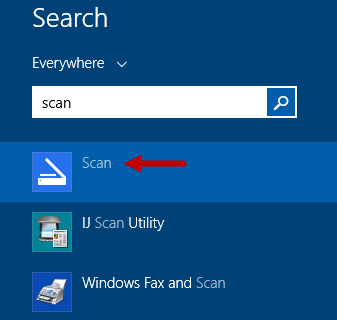 Scan, App, Windows 8.1, documents, pictures, settings