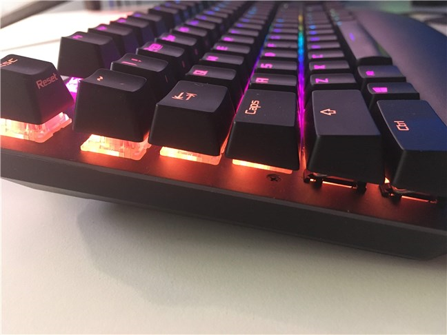 The ASUS ROG Strix Scope TKL Deluxe has a floating keys design