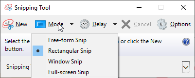 Snipping Tool in Windows
