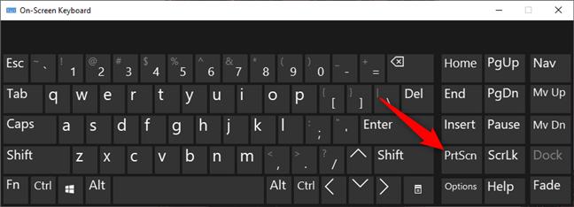La tecla Imprimir pantalla (PrtSc) del teclado