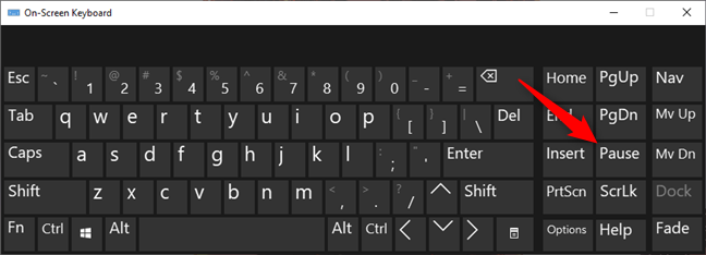 La tecla Pausa / Pausa del teclado