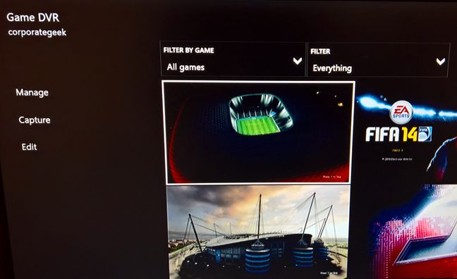 Xbox One, screenshots, buttons, location, Game DVR