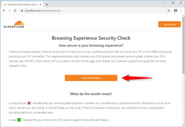 The Cloudflare Browsing Experience Security Check webpage