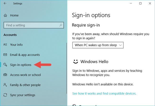 Windows 10, security questions