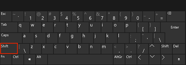 Use the Shift key to select text
