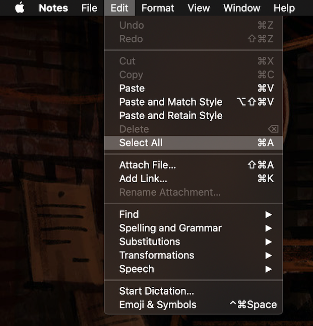 Click Select All to copy the whole text in one move