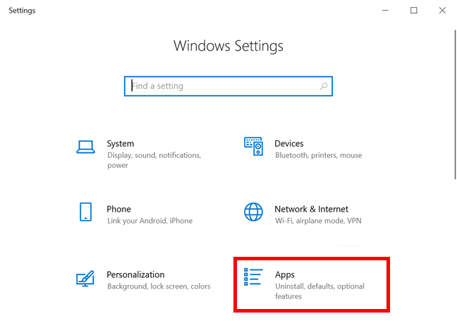 Access Apps Settings