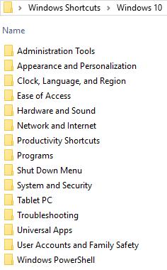 Windows 10, Windows 8.1, Windows 7, download, library, shortcuts