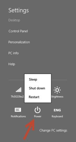 Shut Down, Restart, Windows 8, Windows 8.1