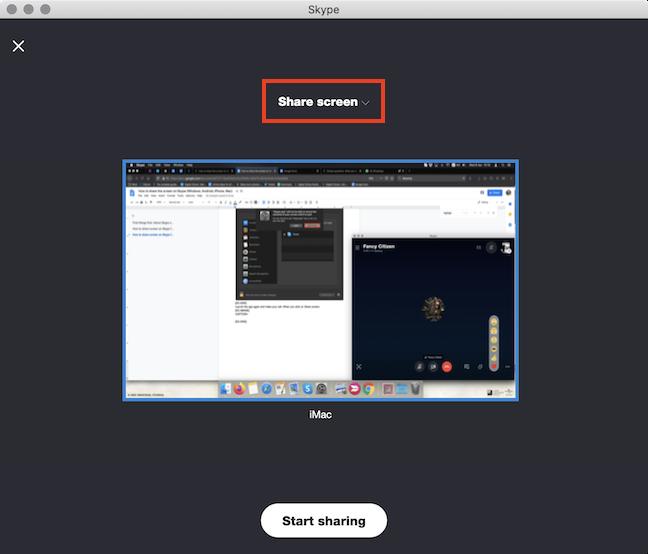 Press Share screen