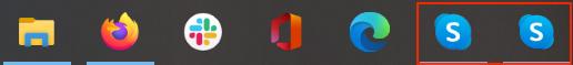 Los iconos de la barra de tareas de Skype tienen el mismo aspecto