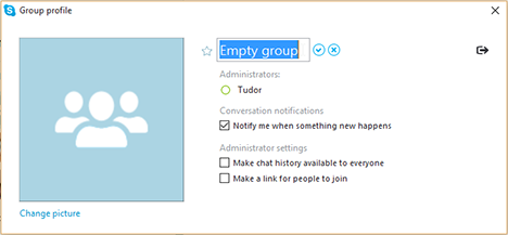 Windows, Skype, app, chat, text, group, conversations