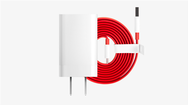 OnePlus Fast Charge power adapter and cable
