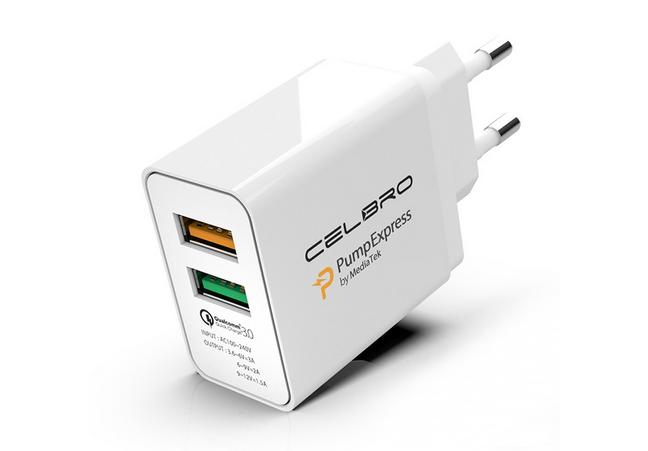 A charger that supports MediaTek Pump Express