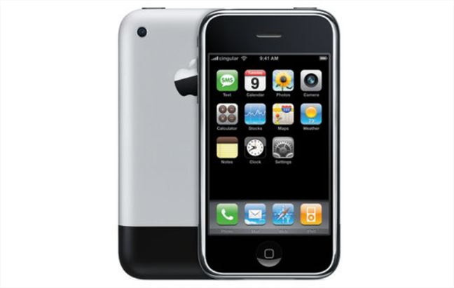 The first iPhone (from 2007): it used Corning Gorilla Glass