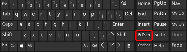 Press PrtScn on your keyboard to take a screenshot in Windows 10