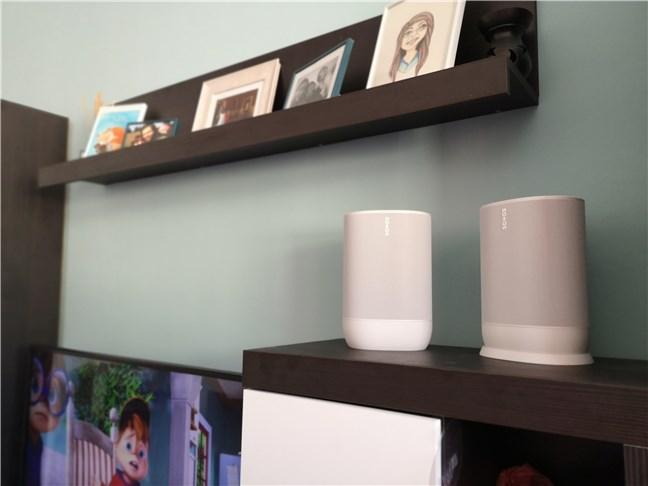 Two Sonos Move speakers