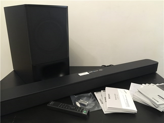 Sony HT-S350 - What's inside the box