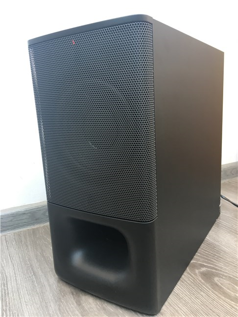 The Sony HT-S350 subwoofer