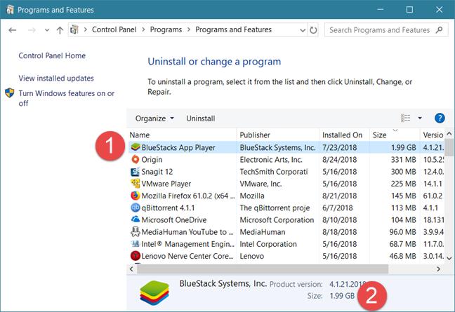 Windows, apps, storage space