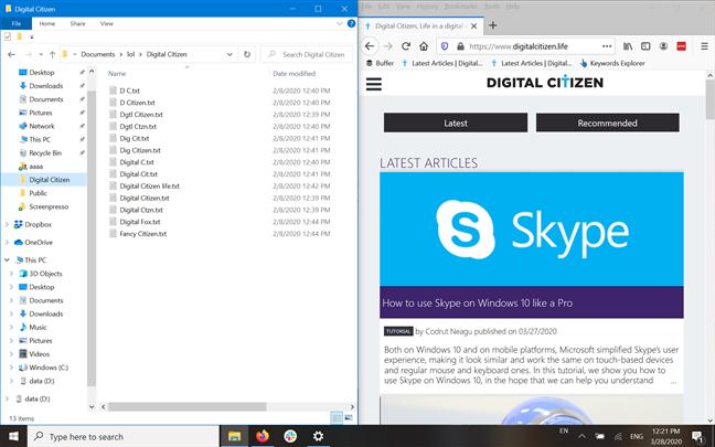Explorer y Mozilla Firefox se alinearon uno al lado del otro