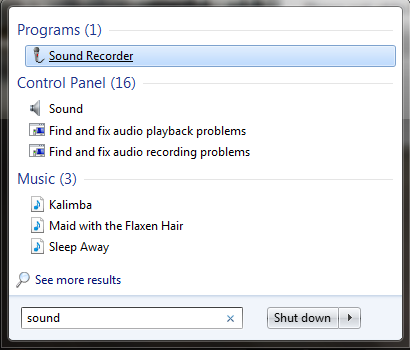 Sound Recorder, Windows 7, Windows 8