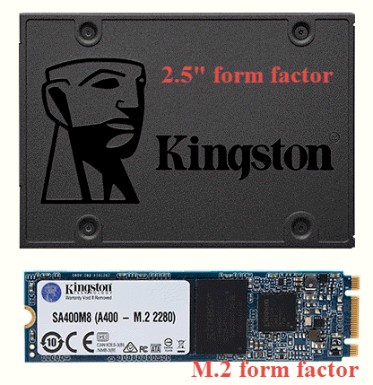 "Kingston A400 available both in the 2.5"" and M.2 form factors"