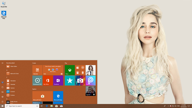 The Windows 10 Start Menu