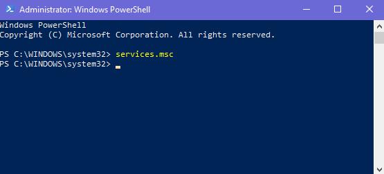 Windows, Services