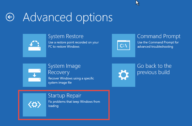 Windows, Startup, Repair