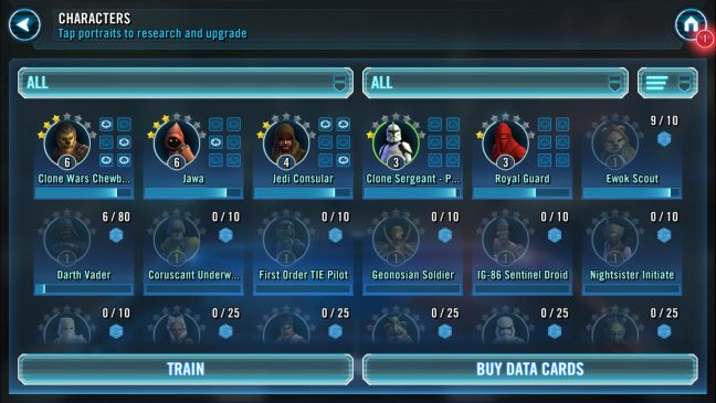 Android, free, game, Star Wars: Galaxy of Heroes, review