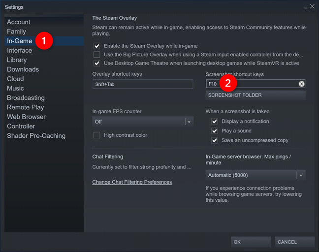 Changing the Steam screenshot button