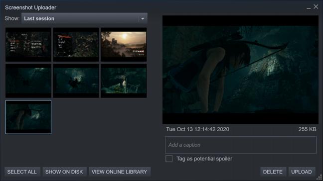 Cargador de capturas de pantalla de Steam