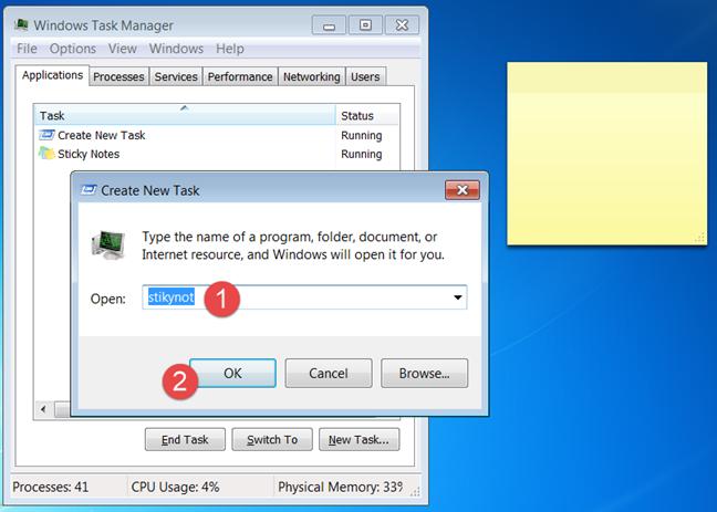 Sticky Notes, Windows